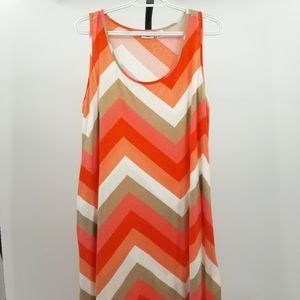 Cato Chevron Colorblock Sleeveless Plus Maxi Dress
